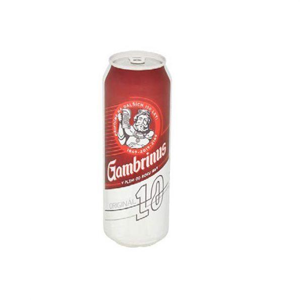 Gambrinus Original 10 Birrë Bjonde Kanaçe 0.5L