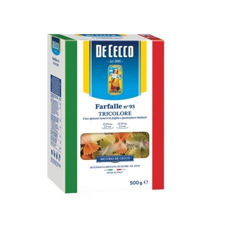 De Cecco Farfalle Tricolore 500 Gr