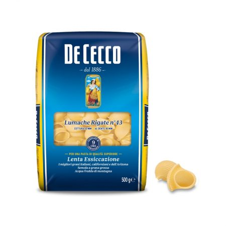 De Cecco Lumache Rigate Paketim 500 Gr