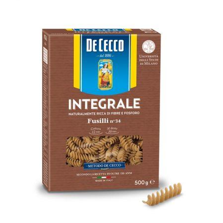 De Cecco Pasta Fusilli Integrali Paketim 500 Gr