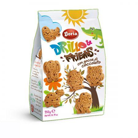 Doria Biskota Drillo & Friends me Copeza Cokollate, Paketim 350Gr
