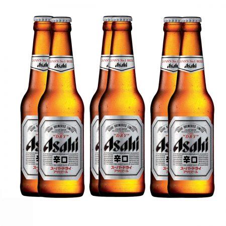 Asahi Super Dry Birre Bjonde Shishe 0.33L,   Pako 6 Copë