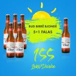 5 Bud Birre Bjonde Shishe 0.33L  + 1  falas