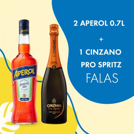 2 Aperol 0.7L  + 1 Cinzano Pro Spritz 0.75L