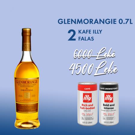 Glenmorangie 0.7L + 2 Cope Illy Kafe Intense pa Sheqer Kanace 0.2L