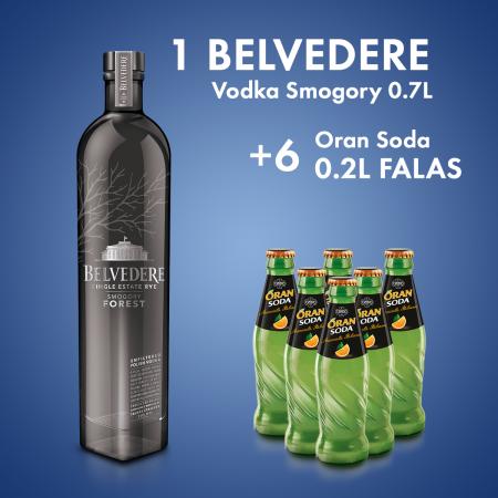 1  Belvedere Vodka Smogory 0.7L + 6 Lemon Soda Shishe 0.2L