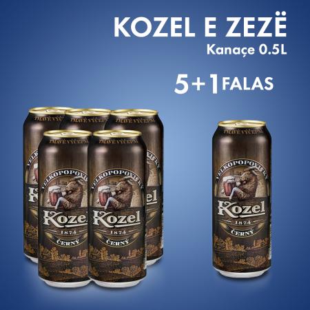 5 Kozel Dark Birre e Zeze Kanace 0.5L + 1 Cope Falas