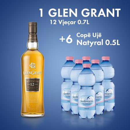 1  Glen Grant 12-Vjecar 0.7L  + 6  San Benedetto Uje Natyral Pet 0.5L Falas