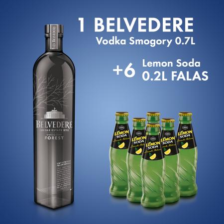 1 Belvedere Vodka Smogory 0.7L + 6 Cope Oran Soda Shishe 0.2L  Falas
