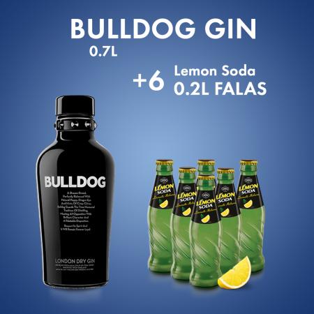 1  Bulldog Gin 0.7L  + 6  LEMON SODA SHISHE 0.2L