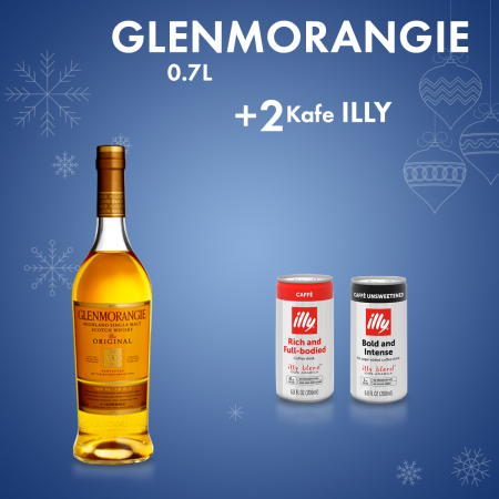 1  Glenmorangie 0.7L  + 2  Illy Kafe Intense pa Sheqer Kanace 0.2L