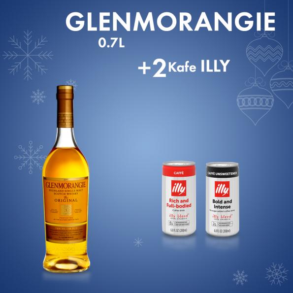 Glenmorangie 0.7L + 2 Cope Illy Kafe me Qumesht Kanace 0.25L Falas