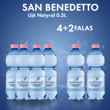 4  San Benedetto Uje Natyral Pet 0.5L  + 2  FALAS