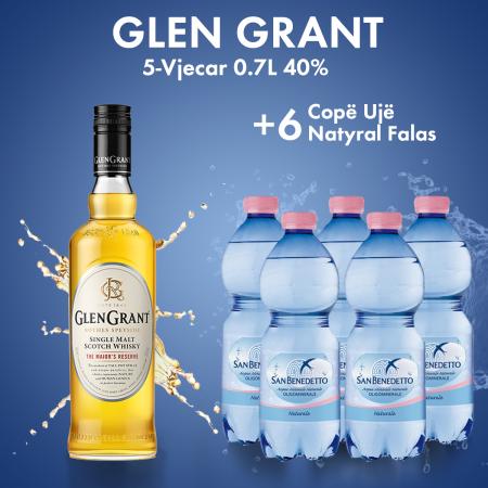 Glen Grant 5-Vjecar 0.7L  + 6  San Benedetto Uje Natyral Pet 0.5L