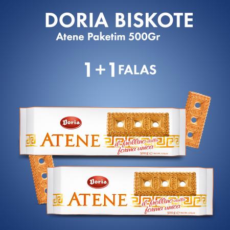 DORIA BISKOTE ATENE PAKETIM 500GR + 1 COPE FALAS