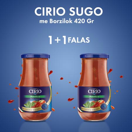 1 Cirio Salce Sugo me Borzilok Kavanoz 420Gr + 1 FALAS