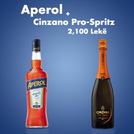 Aperol 0.7L  + 1 Cinzano Pro Spritz 0.75L Falas