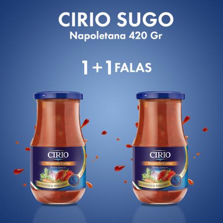 1  Cirio Salce Sugo Napoletaner Kavanoz 420Gr + 1  FALAS