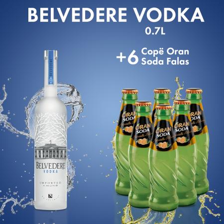1  Belvedere Vodka 0.7L  + 6 ORAN SODA SHISHE 0.2L  FALAS