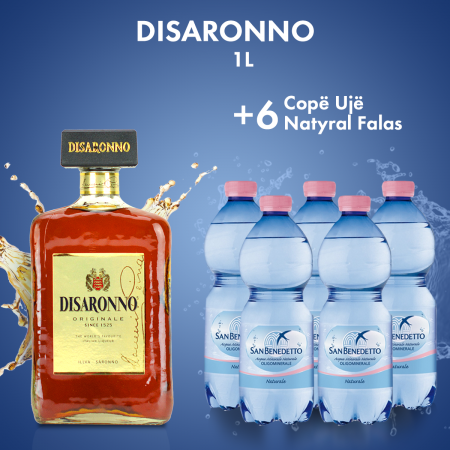 1  Disaronno 1L  + 6  San Benedetto Uje Natyral Pet 0.5L