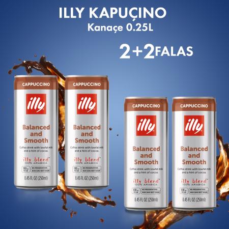 2 Illy Kapucino Kanace 0.25L + 2  FALAS