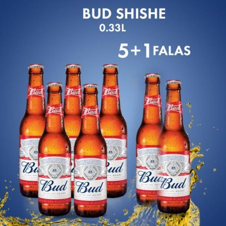 4 Bud Birre Shishe 0.33L 5%  + 2 FALAS