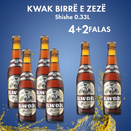 4  Kwak Birre e Zeze Shishe 0.33L 8.4% + 2  FALAS
