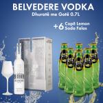 1 Belvedere Vodka Spritz Glass 0.7L + 6 LEMON SODA SHISHE 0.2L