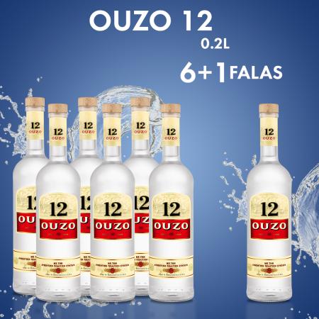 6 Ouzo 12 0.2L + 1 FALAS