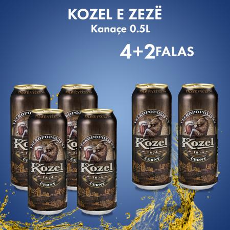 4 Kozel Dark Birre e Zeze Kanace 0.5L 3.8% + 2 FALAS