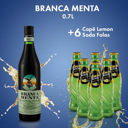 1 Branca Menta 0.7L  + 6 LEMON SODA 0.2L FALAS