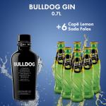 Bulldog Gin 40% 0.7L + 6  LEMON SODA 0.2L FALAS
