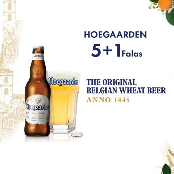 Hoegaarden shishe 0.33L,  5+1 Falas