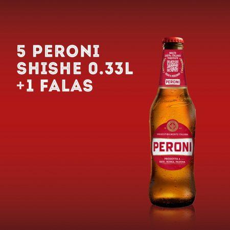 5  PERONI  SHISHE 0.33L  + 1  FALAS