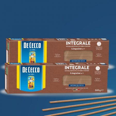 2  De Cecco Pasta linguine integrali  500gr