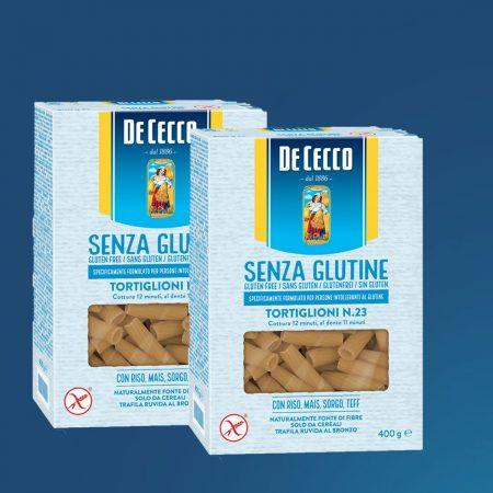 2 Cecco Pasta Tortiglioni Nr. 23 Pa Gluten Paketim 400gr