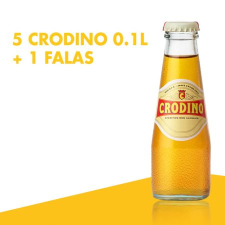 5 Crodino Shishe 0.1L + 1falas