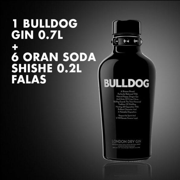 1 Bulldog Gin 0.7L  + 6  ORAN SODA SHISHE 0.2L