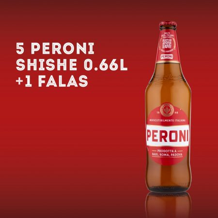 5  PERONI I KUQ BIRRE  0.66L + 1  Falas