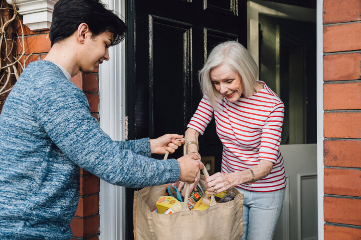 Keeping seniors safe at home by delivering groceries during covid-19