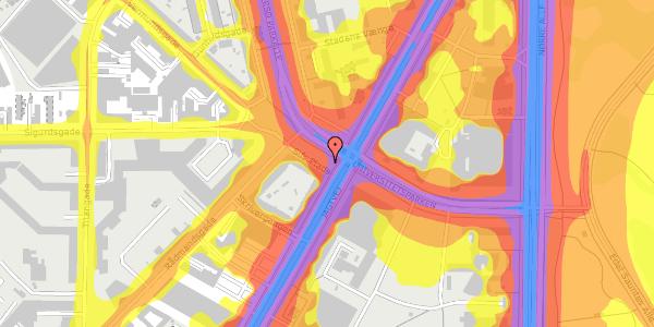 Trafikstøjkort på Sifs Plads 2, 2100 København Ø