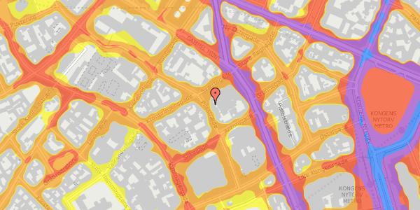 Trafikstøjkort på Pilestræde 32B, 3. , 1112 København K
