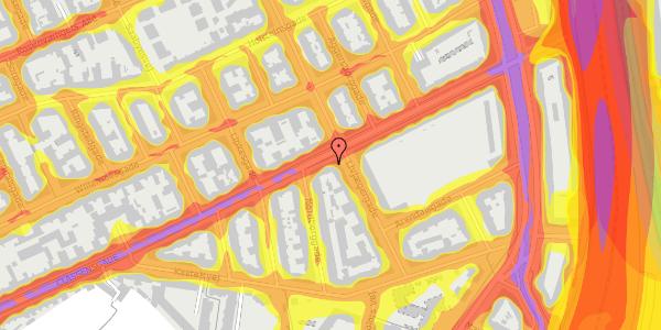 Trafikstøjkort på Classensgade 50B, 2100 København Ø