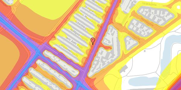 Trafikstøjkort på Abildgaardsgade 3, 2100 København Ø