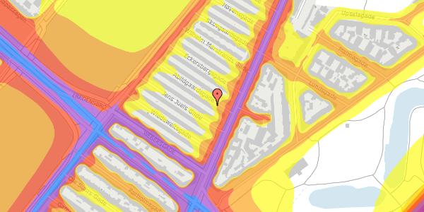 Trafikstøjkort på Abildgaardsgade 9, 2100 København Ø