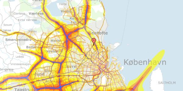 Trafikstøjkort på Banebrinken 95, 3. 45, 2400 København NV