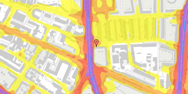 Trafikstøjkort på Bisiddervej 2, 3. mf, 2400 København NV