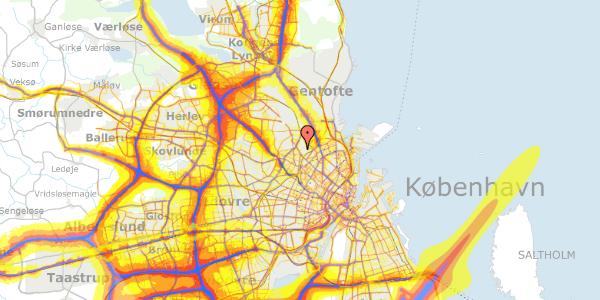 Trafikstøjkort på Bispebjerg Bakke 11, 6. 610, 2400 København NV