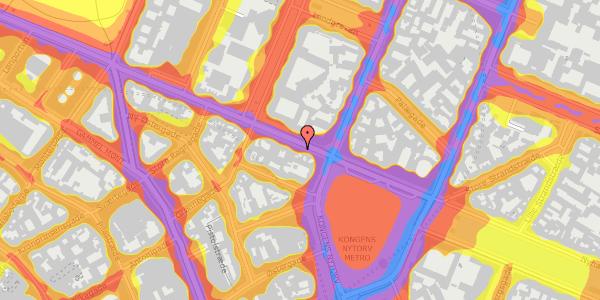 Trafikstøjkort på Gothersgade 7, 3. , 1123 København K