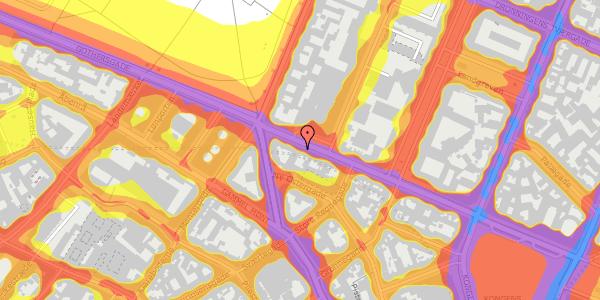 Trafikstøjkort på Gothersgade 41, 2. tv, 1123 København K